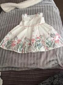 BNWOT Pretty White Dress 6-9 mths