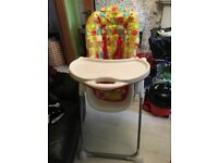 Mothercare multicoloured High Chair excellent condition