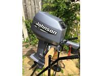 Johnson 6hp 2 Stroke Twin Outboard Engine RIB, SIB Inflatable Boat Tender