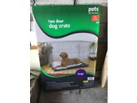 Large Two Door Dog Crate