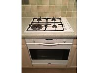 White smeg single electric oven and gas hob