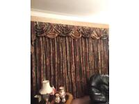 2 Pair Of Curtains (Swags & Tails) - 1 Set Is For A Very Large Window (See Listing For Sizes)