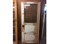 Half glazed wooden door
