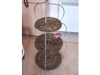 New & Tagged Two metal and sea grass plant stands, 3 tier ideal lounge/patio/conservatory