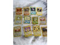 Pokemon cards . base set jungle rockets gym leader fossil