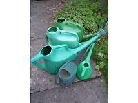5 USED WATERING CANS