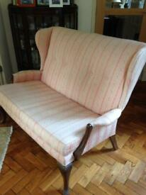 Double wing back chair c1930s