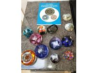 Paperweights - job lot of 12 plus book £50