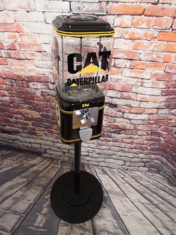 Cat Caterpillar Vintage Acorn gumball machine + stand man cave game room