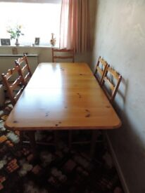 Dining table + chairs