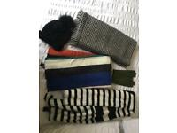 Womens winter scarves, hat & gloves