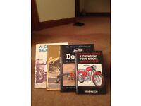 Vintage Motorcycle Books - BSA, Triumph etc