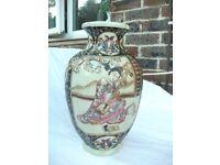 Large antique satsuma vase