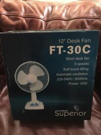 Brand new desk fan