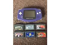Nintendo gameboy advance 6 games