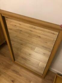 Solid Oak Mirror
