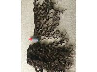 Curly/wavy individual hair pieces