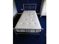 Single Bed with Metal Frame and Wooden Slats (From Dreams) - USED (Mattress is available for Free)