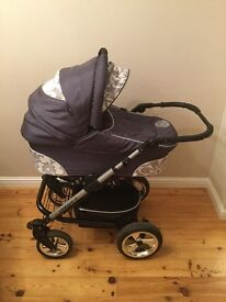 Lux 4 Kids iso fix travel system, XSprint Isofix base for carrycot, all the extras included