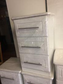 White bedside tables £85 each