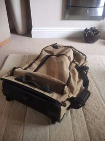 MARKS AND SPENCERS canvas wheeled suitcase/travel bag