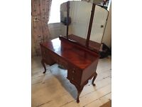 Flame walnut dressing table
