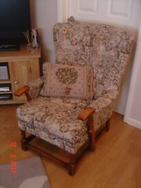 Cottage Style Highbacked Armchair. Can Deliver.