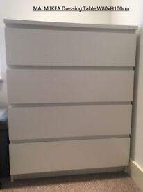 MALM IKEA Dresser Table with 4 drawers - Great Condition