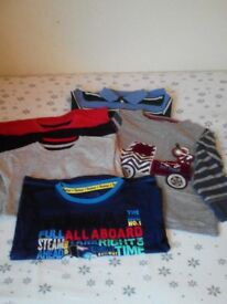 Boys' Bundle of Tops - aged 3 – 4 years (x 6 items)