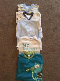 Next Babygrows/Sleepsuits x5 Age 6-9 months