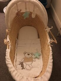 Rocking Moses Basket For Sale - Good Condition