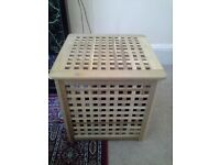 Ikea HOL Side Table/Storage Box