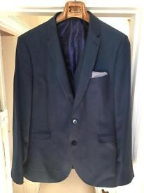 Burton slim fit navy blue suit