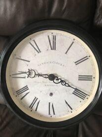 """Newgate clock company London 50"""" diameter wall clock black cream"""