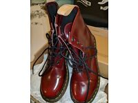 Vegan Doc Martens - Cherry Red Size 6