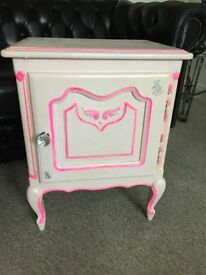 Girls solid wood pink bedside cabinets upcycled £45 each