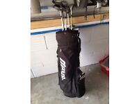 Golf Clubs (various) and Bag