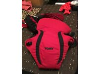 TOMMY BABY CARRIER, LIKE NEW USED 2 TIMES