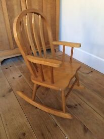 attractive childrens rocking chair - nicely made - totnes Devon