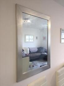 Large Silver Wall Mirror - 90 x 120 cm
