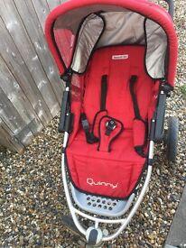 Red black Quinny speedi sx pushchair
