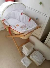 Mamas & Papas Moses Basket & Bedding