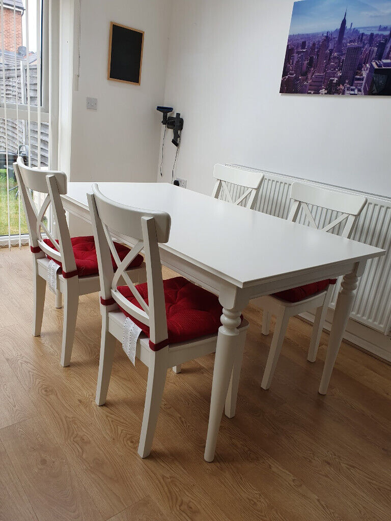 Ikea Ingatorp Ingolf Dining Table W 4 Chairs Set In White Salford Manchester Gumtree