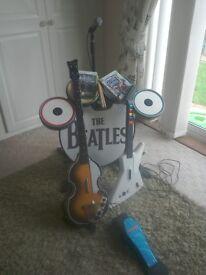Xbox 360 Guitar Hero Bundle./Drums/Microphone/Beatles Set