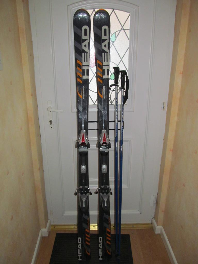 Head c cm carving skis poles bag in monifieth