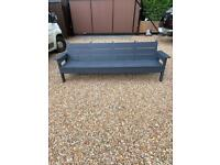 Handmade solid 4 person bench