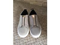 River Island suede trainers with embroidery Size 5