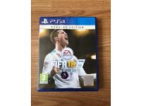 fifa 18 , ps4 , as new ! price stands , no offers !
