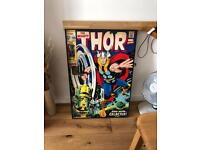 Large Marvel Hulk and Thor posters