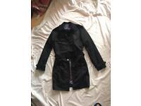 Ted Baker Trench Coat . Black . Medium Size .